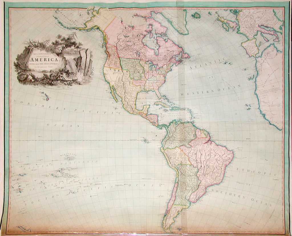 [PURDY, John (1773-1843)]. The Continent and Islands of America with all the Discoveries to the Present Time. London: Richard H. Laurie, May 1st, 1823.
