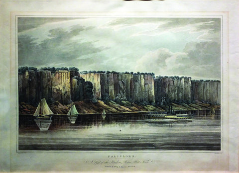 (after) WALL, William G. (1792-1864), Palisades, no. 19 from The Hudson River Portfolio (New York: Henry I. Megaray, 1820-1828)