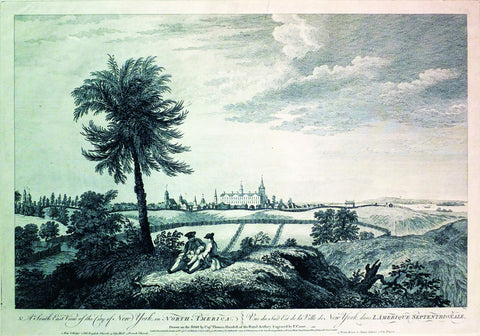 (after) HOWDELL, Thomas (18th century), A South-East View of the City of New York in North America/Vue Du Sud Est de La Ville de New York dans L'Amérique Septentrionale (London: John Bowles, 1768)