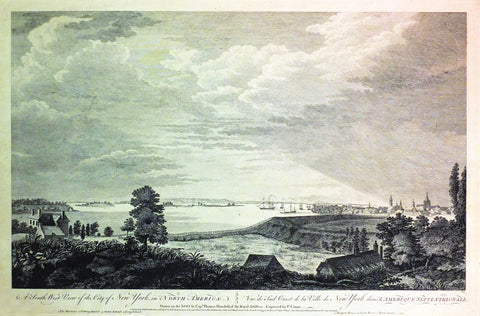 (after) HOWDELL, Thomas (18th century), A South-West View of the City of New York in North America/Vue Du Sud Ouest de La Ville de New York dans L'Amerique Septentrionale (London: John Bowles, 1768)