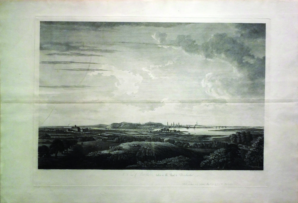 PIERRIE, W., A View of Boston Taken on the Road to Dorchester (Boston: Des Barres, 1776)