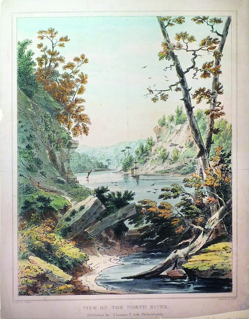 SHAW, Joshua (1776-1860), View on the North River (Philadelphia: Thomas T. Ash, c.1835)