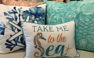 Take me to the sea. We have a pillow for every room. every color, & every mood.
