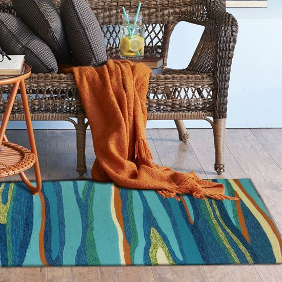 Ocean Waves Indoor/Outdoor Rug