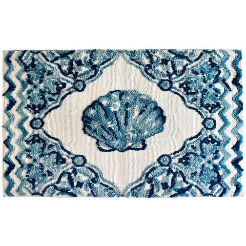 Vintage Clam Shell Rug