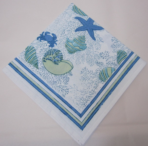 Table Linens Coral Starfish