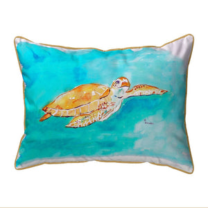 Brown Sea Turtle Pillow