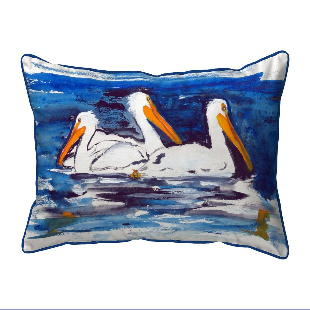 Three Pelicans Pillow