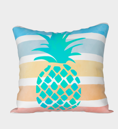 Pineapple Stripe Pillow Cover