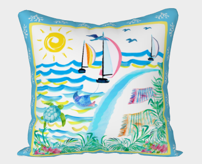 Island Holiday Pillow Cover