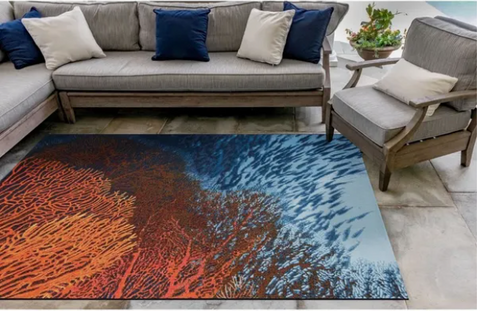 Marina Coral Indoor/Outdoor Rug