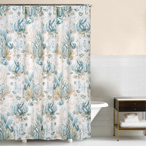 Cerulean Shores Shower Curtain