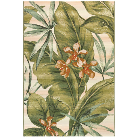 Marina Tropical Leaf Indoor/Outdoor Rug