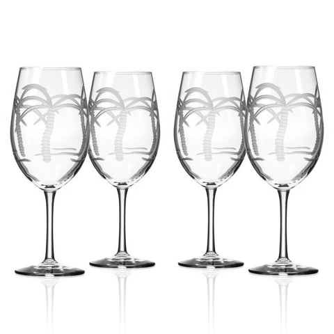 Palm Tree Glassware Set/4