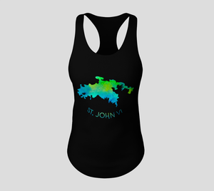St. John VI Map Tank Top