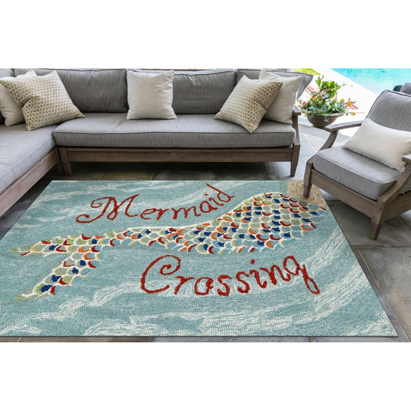 Front Porch Mermaid Crossing Indoor/Outdoor Rug