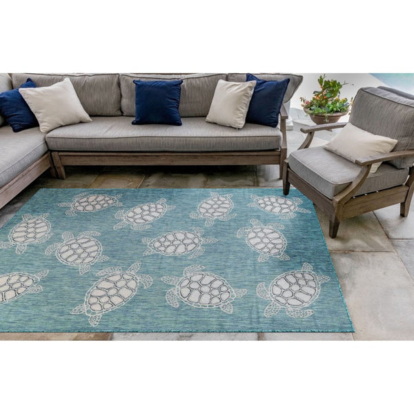 Carmel Sea Turtles Indoor/Outdoor Rug