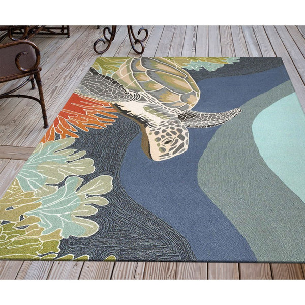 Ravella Sea Turtle Indoor/Outdoor Rug
