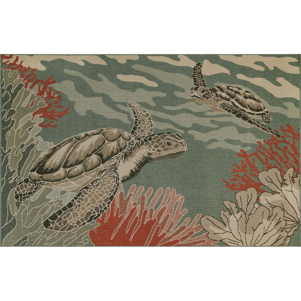 Riviera Sea Turtles Indoor/Outdoor Rug