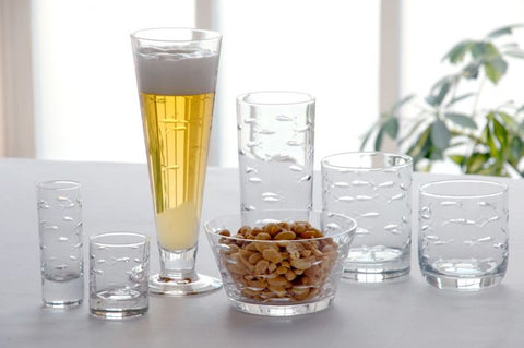 School Of Fish Glassware Set/4