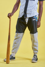 Load image into Gallery viewer, Black and grey Toronto Bluejays hoodiepants