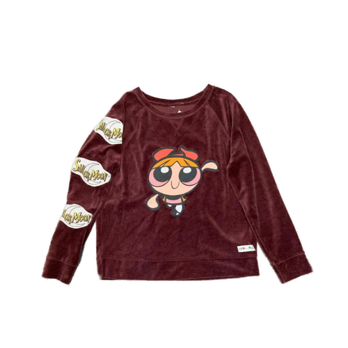 One of a kind , velour sweater. combines Sailormoon and Powerpuff girls