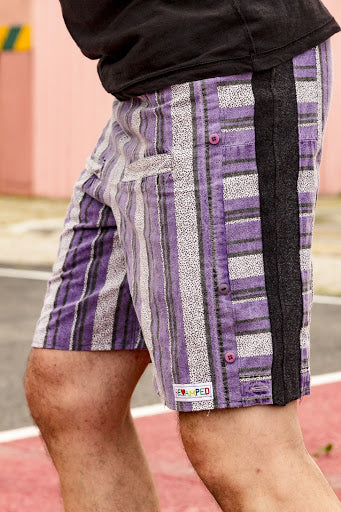 Purple Vintage Shirt Shorts