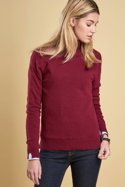 Barbour Mill Roll Collar Sweater