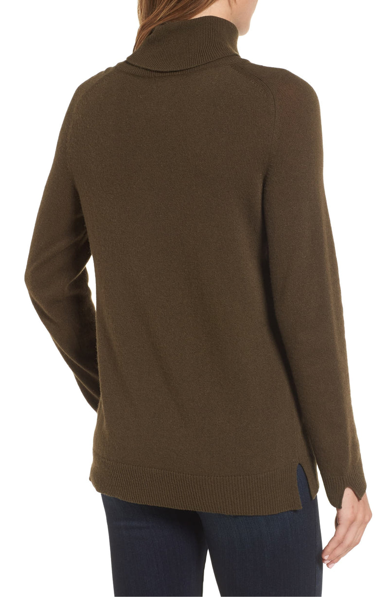 Barbour Farne Fox Intarsia Turtleneck Sweater