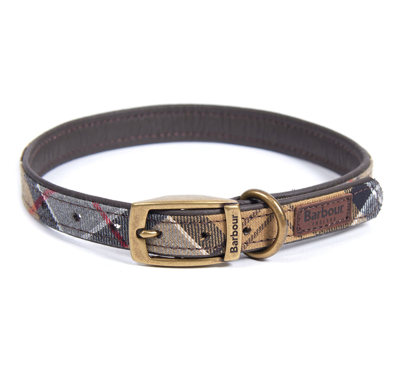 Barbour Dress Tartan Leather Dog Collar