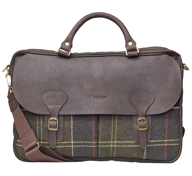 Barbour Waxed Leather Briefcase