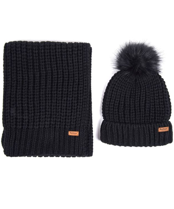 Barbour Saltburn Beanie & Scarf Set