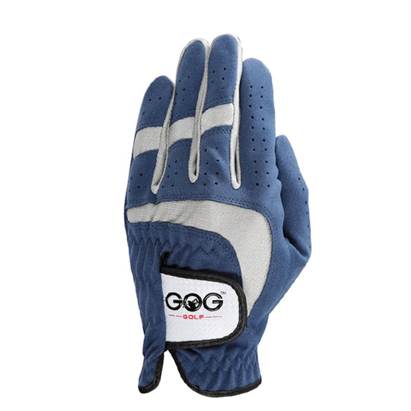GOLF GLOVES Men's Glove Micro Fiber Soft white blue gery 3color Left Hand Anti-skidding Non slip particles Breathable Golf Glove