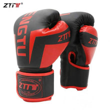 Load image into Gallery viewer, ZTTY Kick Boxing Gloves for Men Women PU Karate Muay Thai Guantes De Boxeo Free Fight MMA Sanda Training Adults Kids Equipment