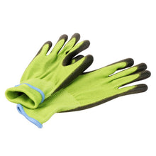 Load image into Gallery viewer, Anti-UV Green Bamboo Work Gloves For Garden GMG Antimicrobial Black PU Work Safety Gloves Working Gloves For Women And Man