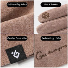 Load image into Gallery viewer, Autumn Winter Thin Mens Self-Heating Gloves Women Fashion Imitation cashmere Business Touch Screen Windproof Gloves Embroidery