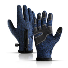 Load image into Gallery viewer, Winter warm men and women sports bike riding full finger touch screen waterproof gloves motorcycle ski soft velvet gloves
