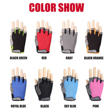 Load image into Gallery viewer, Breathable Anti-sweat Anti-slip Half Finger Gloves Silicone Mesh Cycling Men Women Anti-shock Sports Gloves Bike Bicycle Glove