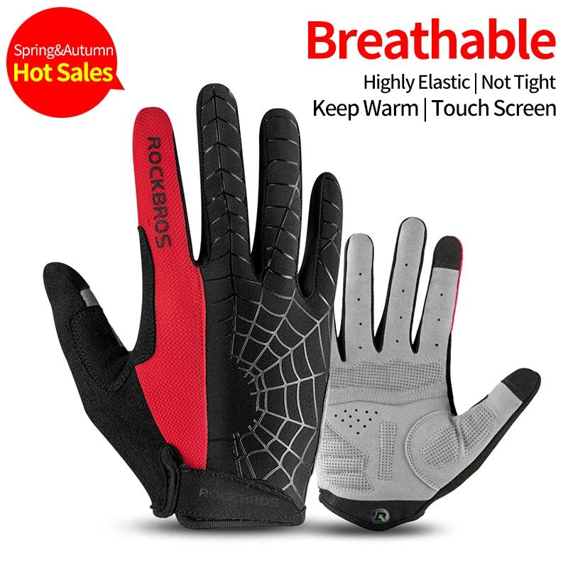 ROCKBROS Ski Gloves Touch Screen Windproof Thermal Winter Snow Gloves Men Women Sport Snowboard Thick Anti-slip Skiing Gloves