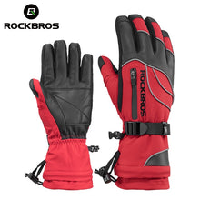 Load image into Gallery viewer, ROCKBROS Waterproof Ski -30 Gloves Winter Windproof Snowmobile Snowboard Gloves Snow Men Women Snowboarding girls Skiing Gloves