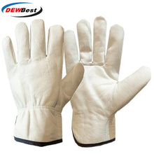 Load image into Gallery viewer, DEWBest Work Gloves Cowhide Leather Men Working Welding Gloves Safety Protective Garden Sports  Wear-resisting Gloves