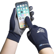 Load image into Gallery viewer, Ice Silk Light Gloves Summer Thin Men Sports Cycling Running Fitness Driving Outdoors Fishing Women Non-Slip Touch Screen Gloves