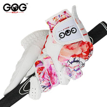 Load image into Gallery viewer, GOLF GLOVES 1 pair GOG SHEEPSKIN Genuine leather + lycra free shipping brand new left / right hand for women lady sports glove