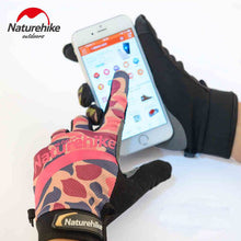 Load image into Gallery viewer, Naturehike Men's Ultra-Thin Wear-Resistant Telefingers Climbing Glove Women Full Finger Printed Touch Screen Cycling Gloves