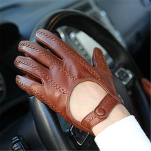 Load image into Gallery viewer, 2020 Autumn New Style Genuine Leather Man Gloves Locomotive Driving Unlined Imported Sheepskin Gloves Male Mittens M063N
