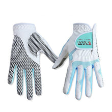 Load image into Gallery viewer, PGM Women's Golf Gloves  Left Hand & Right Hand Sport High Quality Nanometer Cloth Golf Gloves Breathable Palm Protection