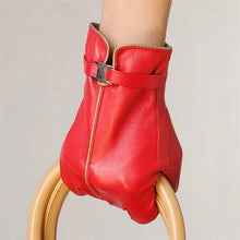 Load image into Gallery viewer, New 2020 Sale Sheepskin Genuine Leather Gloves Women Solid Fashion Wrist Winter Glove Swallow-tailed Style Free Shipping L050PC