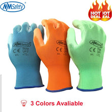 Load image into Gallery viewer, NMSAFETY 12 pairs Working Protective Glove Men Flexible Nylon or Polyester Safety Work Gloves