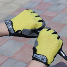 Load image into Gallery viewer, Non-Slip Gel Half-finger Gloves for Women Men's Outdoor Sports Badminton Fitness Running Bike Cycling Bicycle Riding Fingerless
