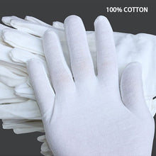 Load image into Gallery viewer, NMSafety White Cotton Gloves Etiquette Work Gloves for Men and Women or Kids